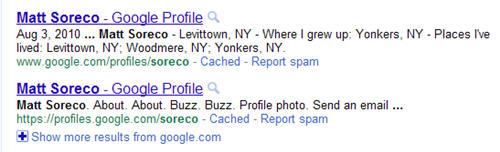 Duplicate Google Profiles